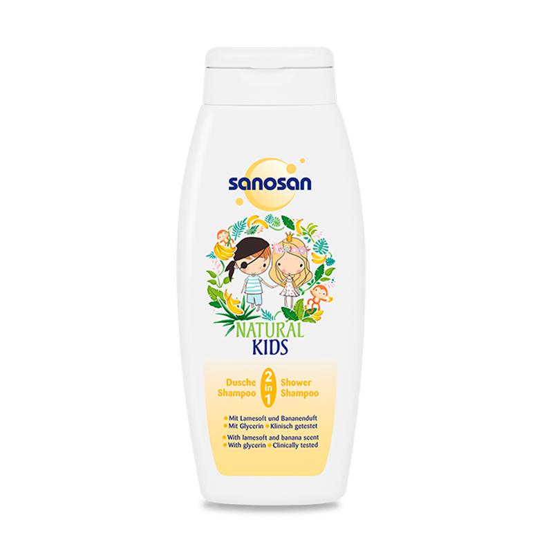 哈罗闪Sanosan儿童二合一洗发沐浴露(香蕉香型)温和清洁