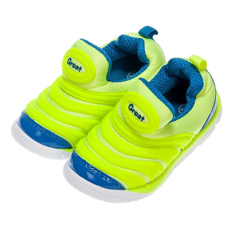 歌瑞凯儿greatfree男婴小毛虫运动鞋GK153-017SH绿13.5cm双