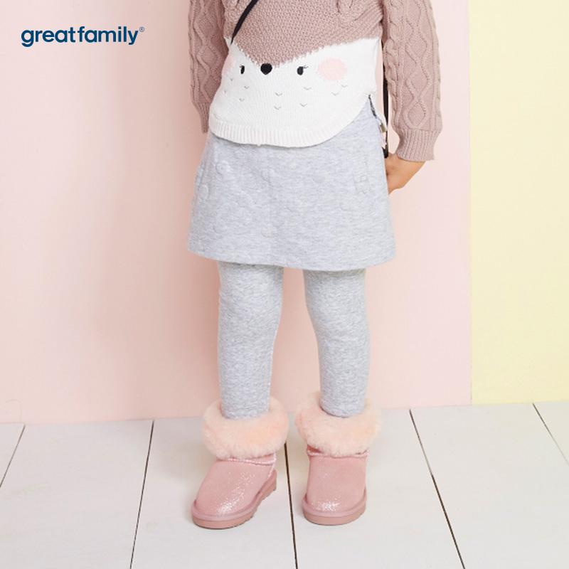 歌瑞家(Greatfamily)A类女宝宝灰色裙裤/打底裤