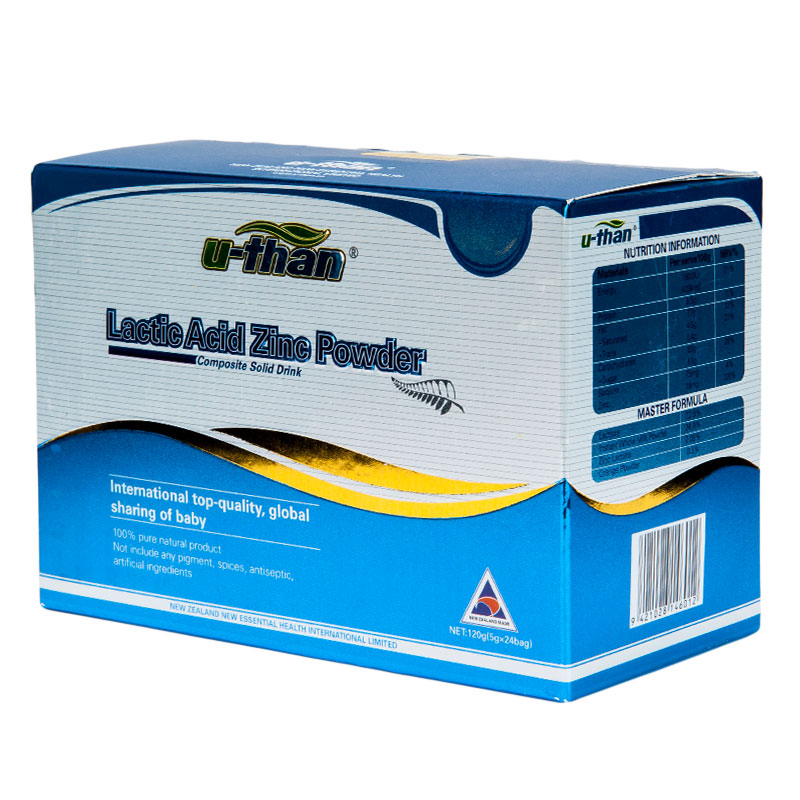 优珍乳酸锌复合固体饮料5g*24袋盒