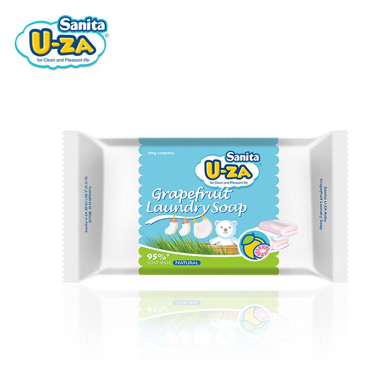U-za婴幼儿柚子洗衣皂柚子味bb香皂洗内衣尿布