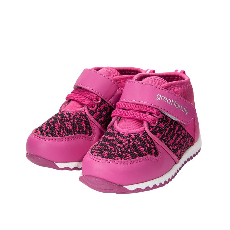 歌瑞家(greatfamily)女婴时尚运动鞋梅红