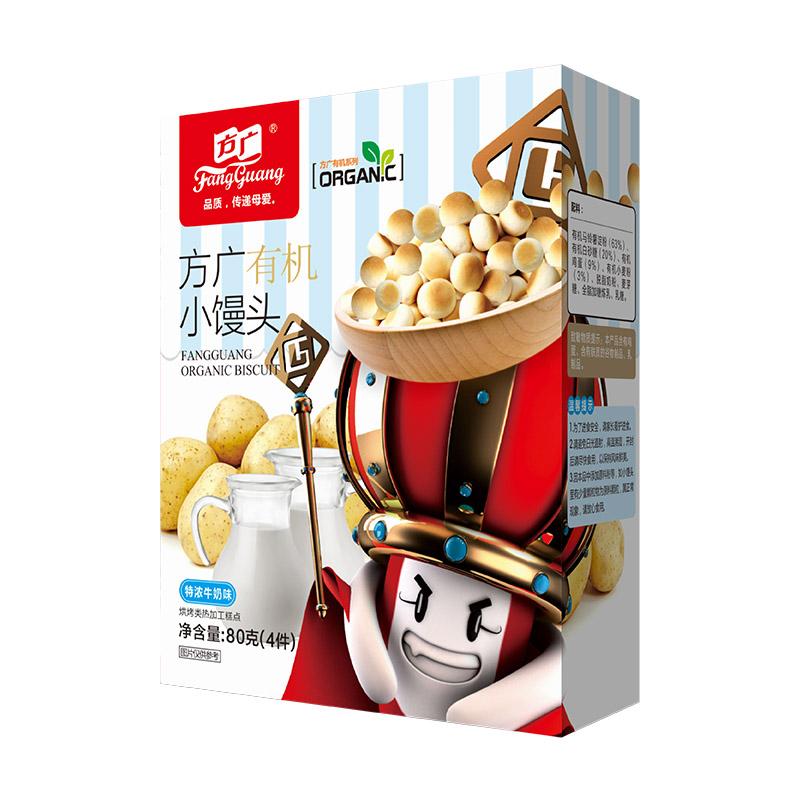 方广有机小馒头(特浓牛奶味)92g/盒