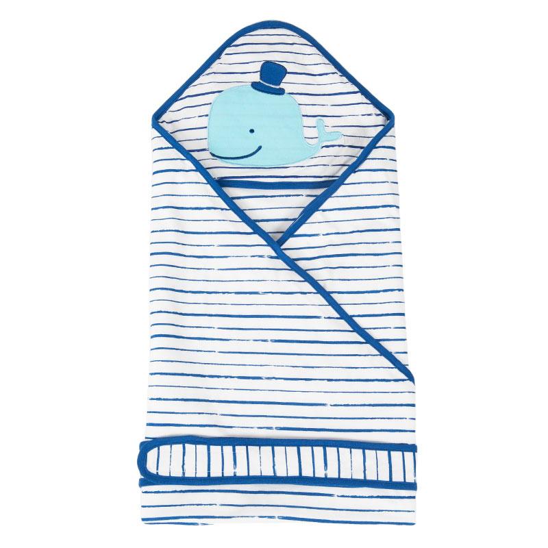 歌瑞家greatfamily竹纤维抱被90*90cm蓝
