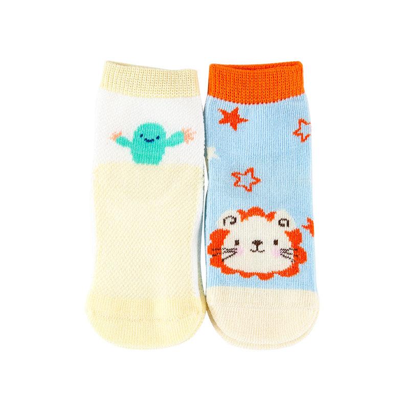 歌瑞家greatfamily图案系列男童平纹短袜(2双装)