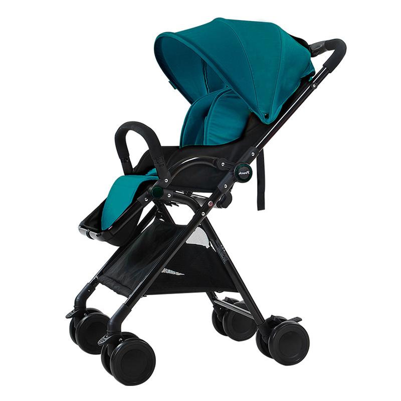 Pouch超轻便携高景观可坐可躺婴儿推车A06墨绿色