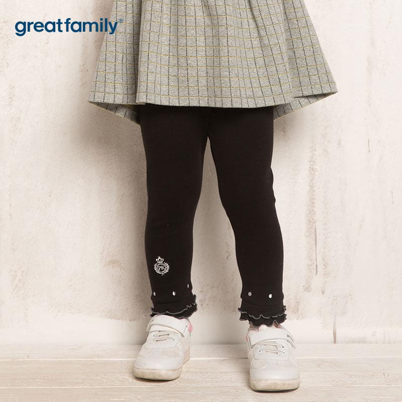 PeterRabbit女童黑打底裤裤子