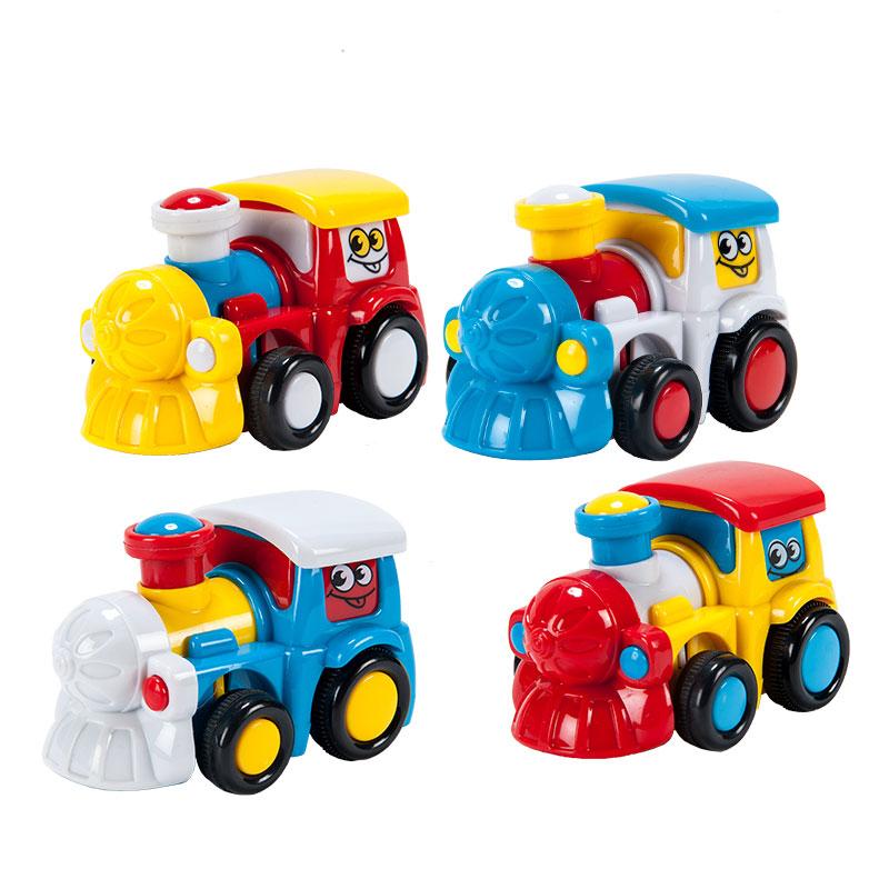 字母婴幼儿益智趣味玩具惯性迷你火车(颜色随机)