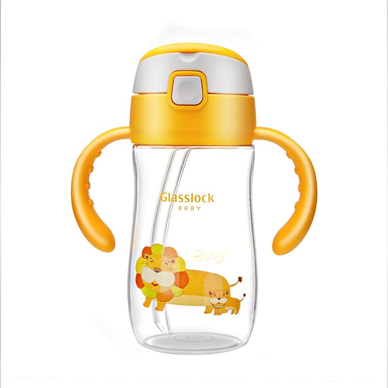Glasslock Baby网Tritan儿童水杯-黄色狮子300ml个