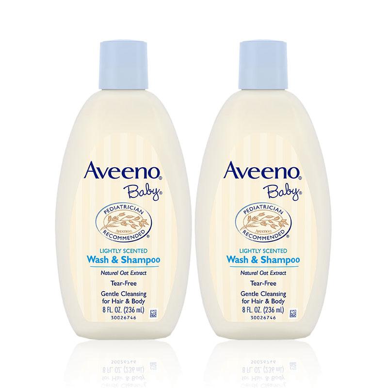 艾惟诺Aveeno婴儿每日倍护洗发沐浴露236ml*2瓶