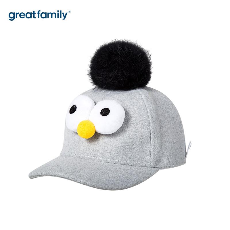 歌瑞家A类女童棒球帽灰色女童帽