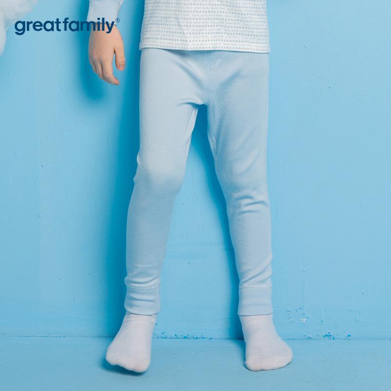 歌瑞家A类牛奶蛋白纤维蓝男长裤秋裤家居服睡衣