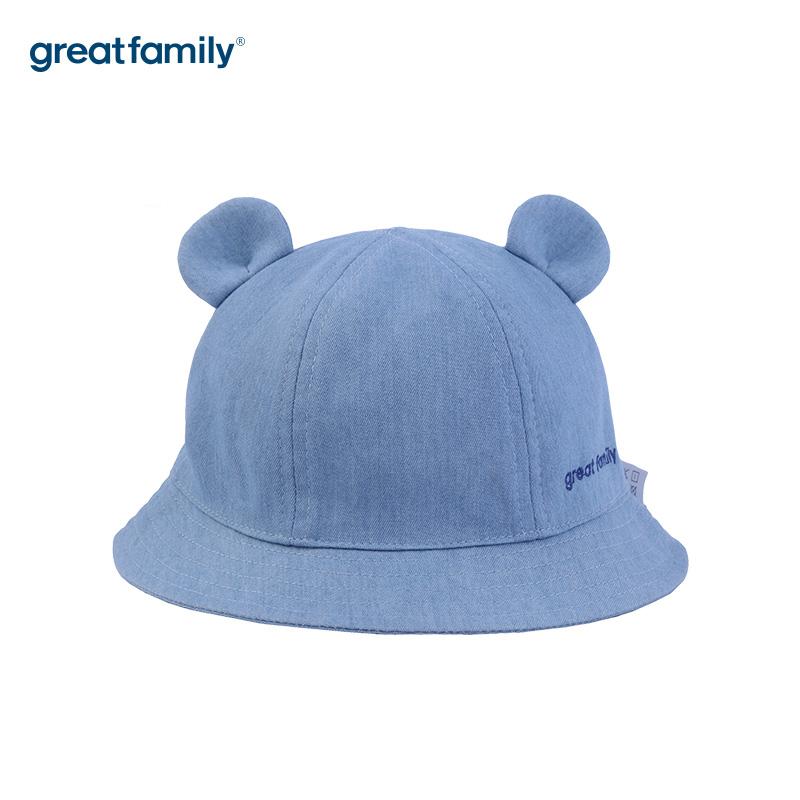 歌瑞家A类男童蓝色盆帽帽子