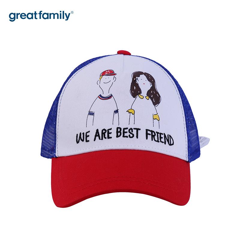 歌瑞家A类女童混色网眼棒球帽帽子