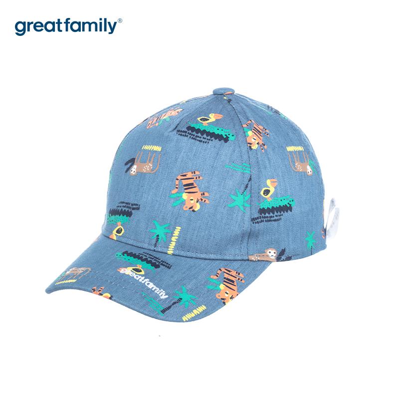 歌瑞家A类男童蓝色棒球帽帽子