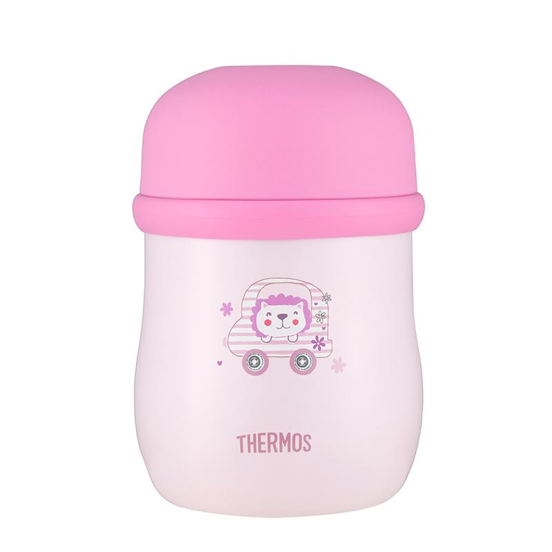 膳魔师不锈钢焖烧罐食物罐焖烧杯饭盒便当粥桶保温便携TCLC-420FPK粉色420ml