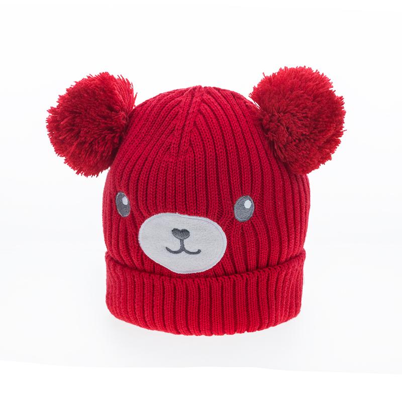 歌瑞家A类女童红色针织帽