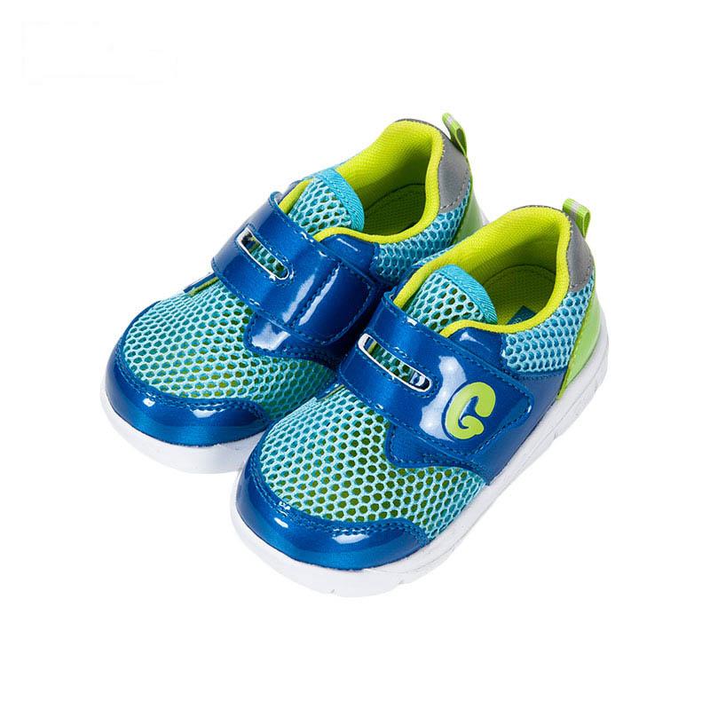 歌瑞贝儿男婴网眼鞋GB162-009SH蓝13.5cm双
