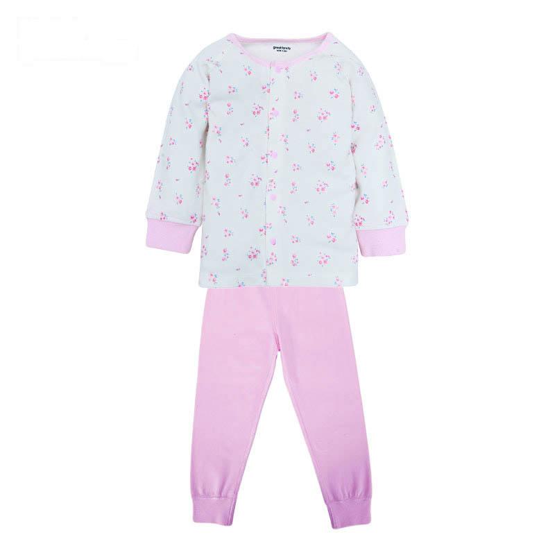 歌瑞家greatfamilyA类男女宝宝双面布对襟套装2色可选