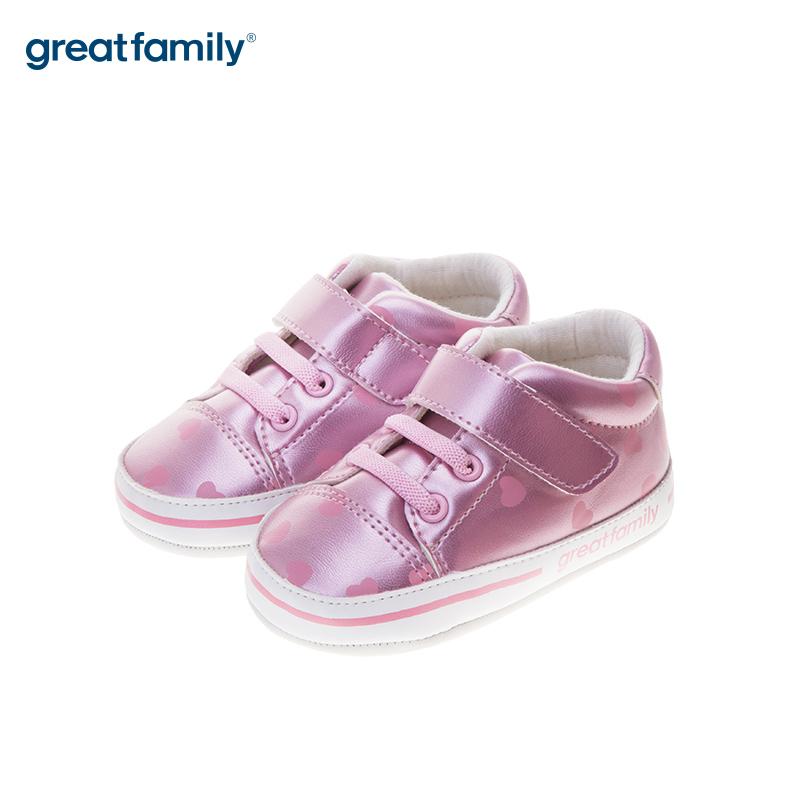 歌瑞贝儿(新)女婴公主宝宝鞋GB183-002SH粉12CM双