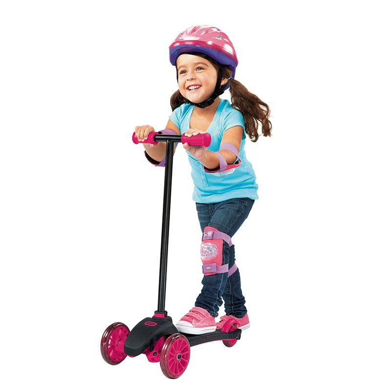 小泰克--儿童三轮滑板车(粉红色)包装破损