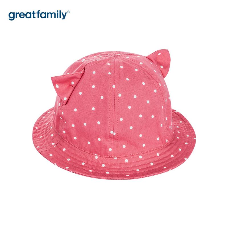 歌瑞家A类女童粉色盆帽帽子