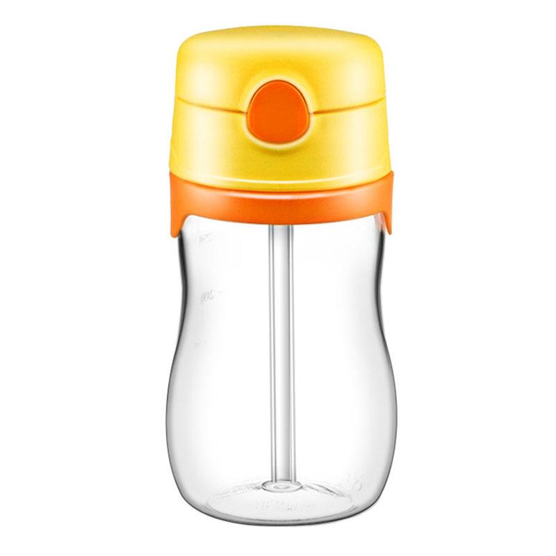 膳魔师THERMOStritan吸管杯儿童吸管杯带刻度宝宝水杯学饮杯夏季喝水杯BP5353OR橙色325ml