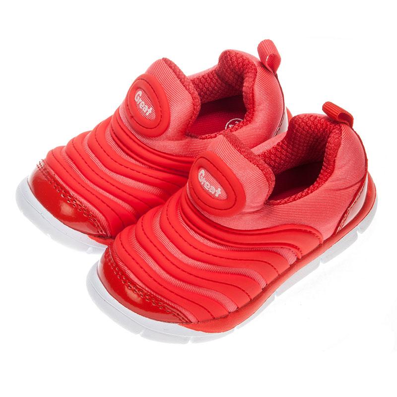 歌瑞凯儿greatfree女婴小毛虫运动鞋GK153-016SH橙13.5cm双