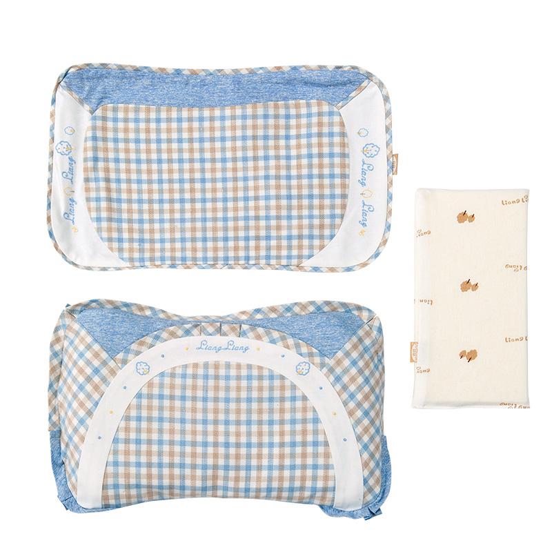 良良格彩童语婴幼儿护型保健枕(0-3岁标准)40.5*23(cm)蓝LL17A01-1B