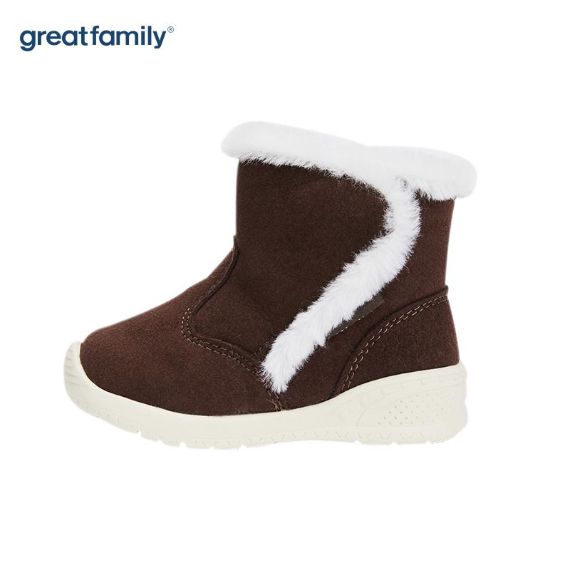 歌瑞家(greatfamily)中性休闲棉鞋GBS4-029SH褐色