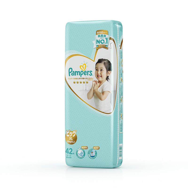 帮宝适日本进口一级帮宝适纸尿裤XL42片