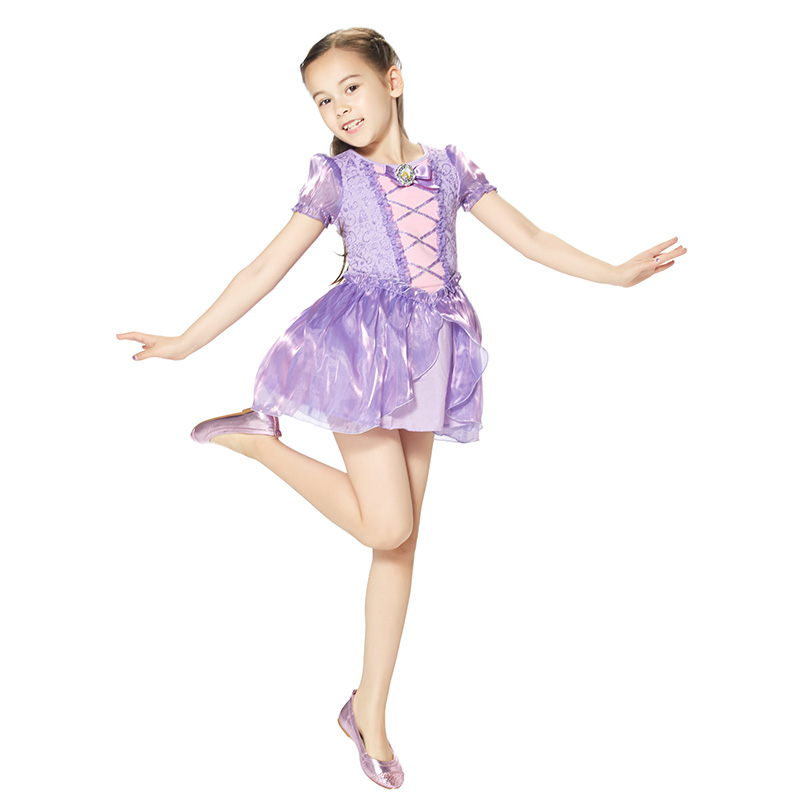 迪士尼长发公主连衣裙紫色