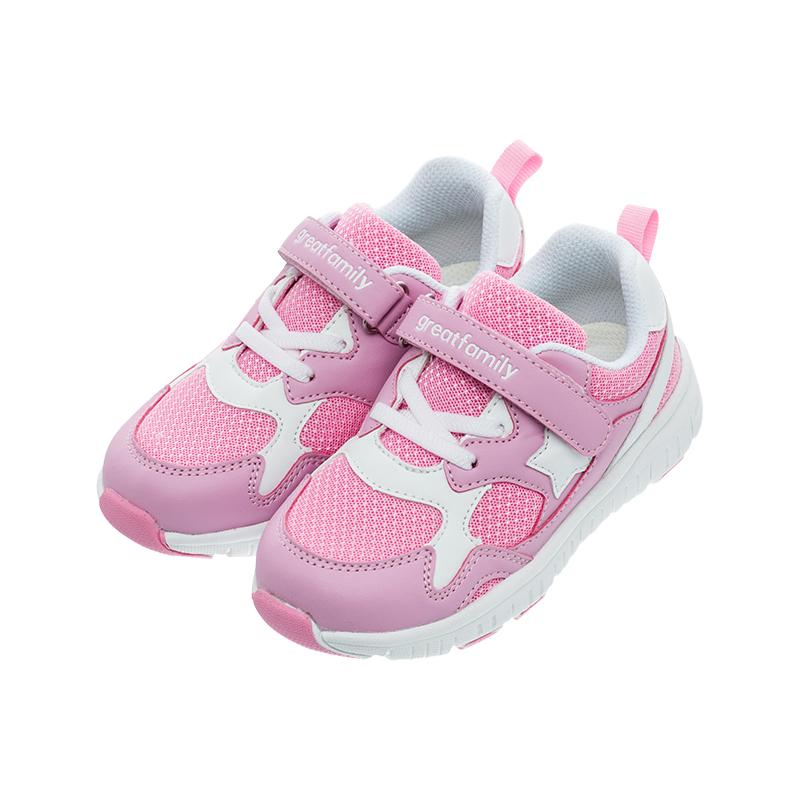 歌瑞家(greatfamily)女婴休闲跑鞋GKS1-004SH粉14CM双