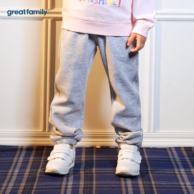 歌瑞凯儿(新)A类酷帅宝贝灰色女童针织长裤