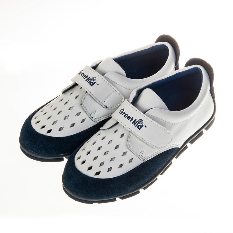 歌瑞凯儿网眼时尚休闲婴儿鞋蓝16码GK151-009SH