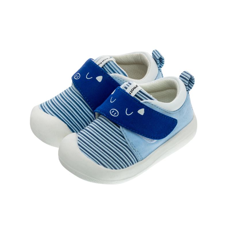 歌瑞家(greatfamily)男婴条纹宝宝鞋GBS1-013SH蓝12CM双