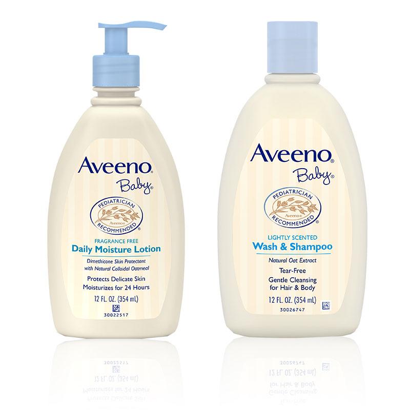 艾惟诺-Aveeno每日倍护婴儿洗护礼盒(洗发沐浴露+润肤乳)2件/套