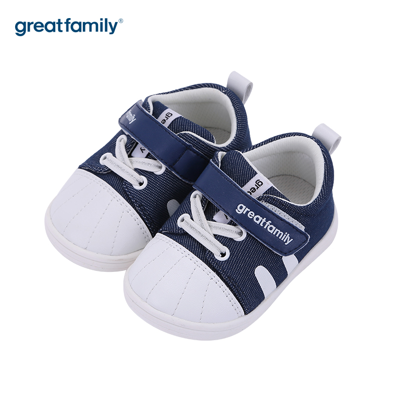 歌瑞家(greatfamily)男婴百搭宝宝鞋GBS3-006SH蓝12.5CM双