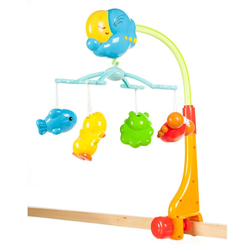 澳贝(Auby)快活池塘床铃新生婴儿宝宝音乐旋转床头铃玩具礼盒