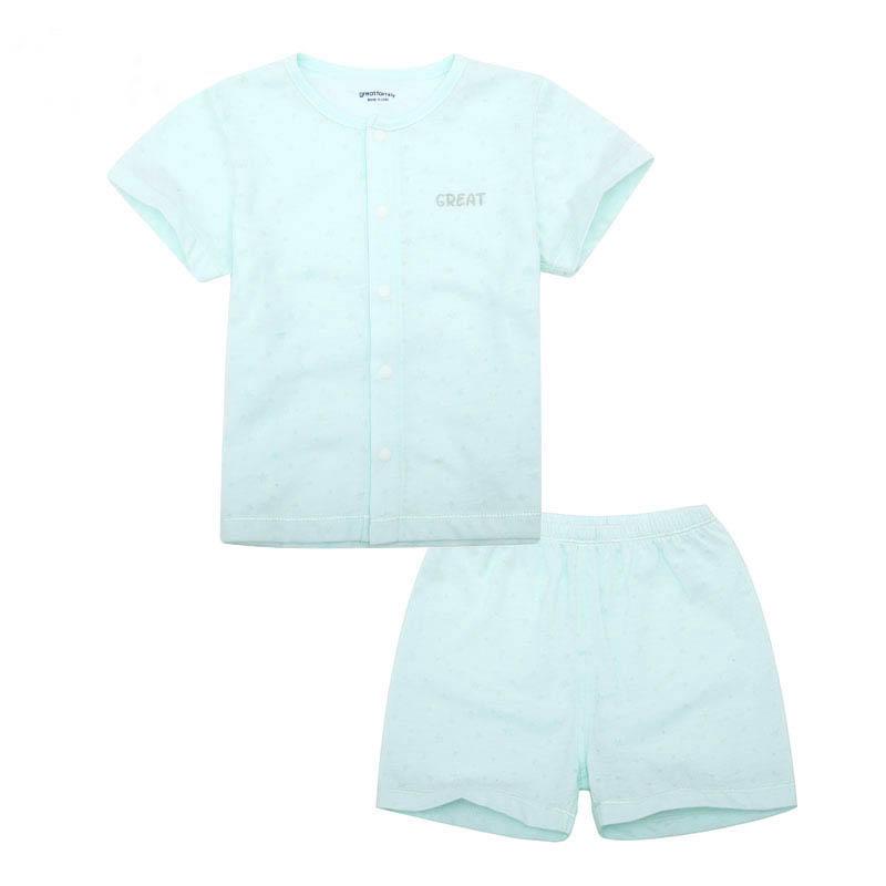 歌瑞家A类男宝宝绿色对襟套装