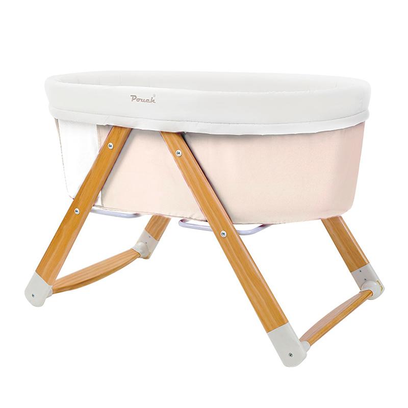 Pouch多功能便携式可折叠无漆摇篮床H26米色