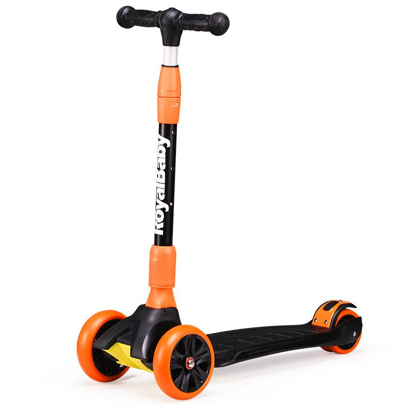 优贝滑板车小灵精儿童3-10岁小孩溜溜车滑滑车发光轮一键折叠
