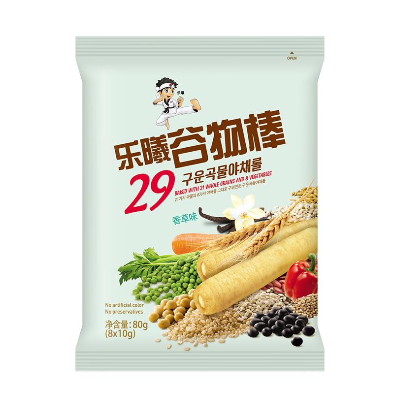 乐曦--香草味谷物棒(12月以上)80g/袋