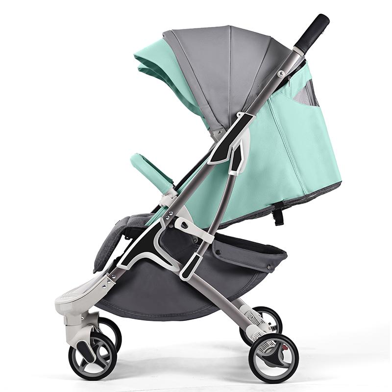 hotmom辣妈M19婴儿推车 儿童折叠超轻便婴儿车 宝宝可坐可躺手推车伞车 薄荷绿