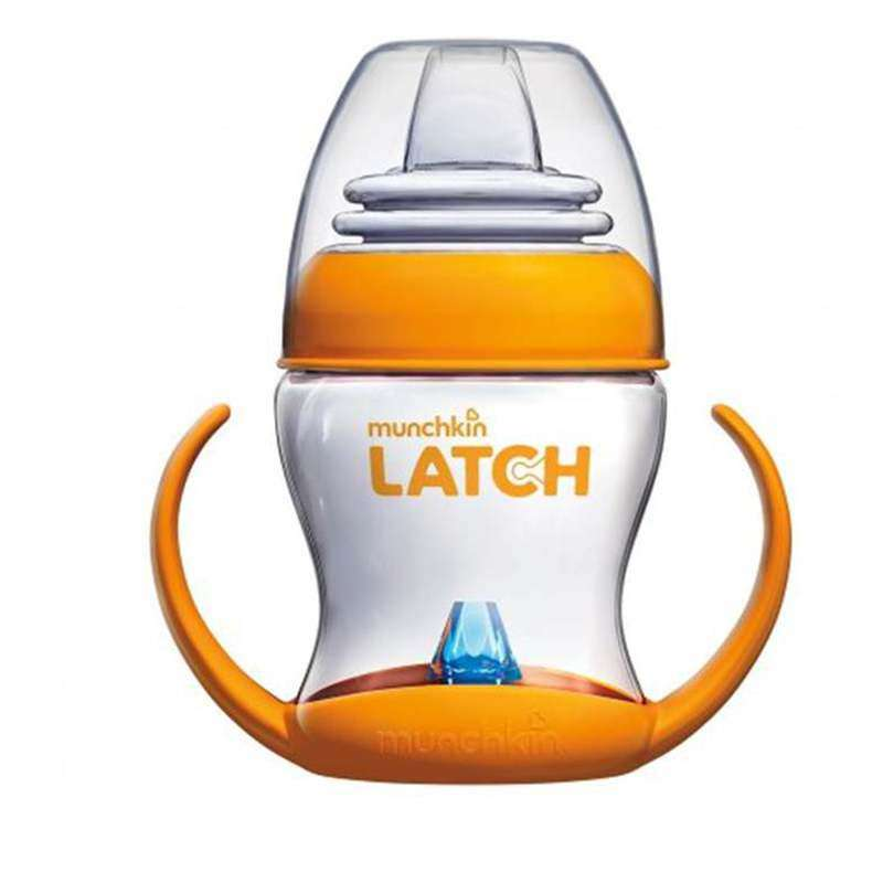 满趣健MunchkinLATCH4盎司過渡奶杯(壹個裝)
