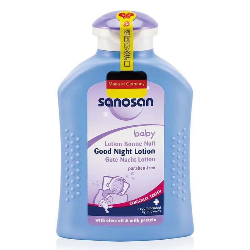 哈罗闪Sanosan德国进口婴儿晚安护肤乳200ml蕴含多种天然优质滋养成分呵护娇嫩肌肤