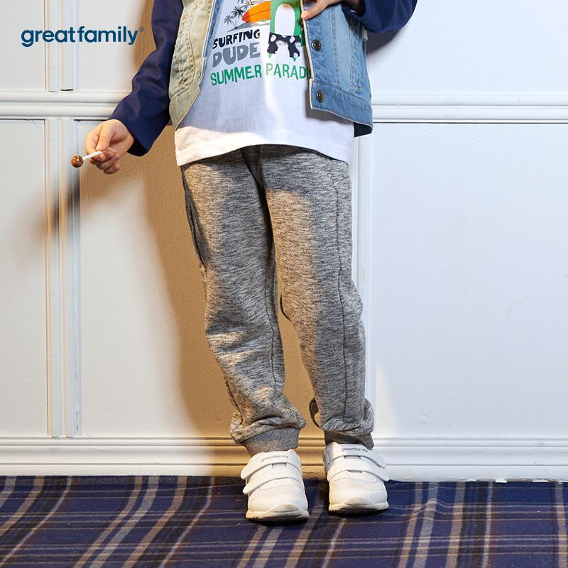 歌瑞凯儿(新)A类可爱精灵灰色男童针织长裤