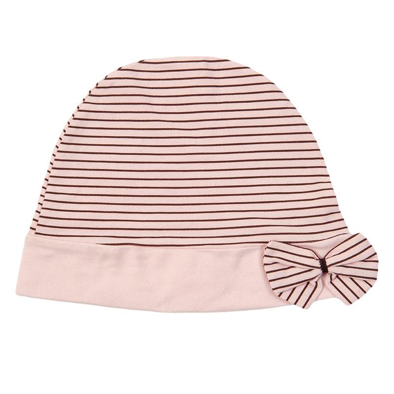 歌瑞妈妈--柔粉横条月子帽GM140-002MA粉混码码件