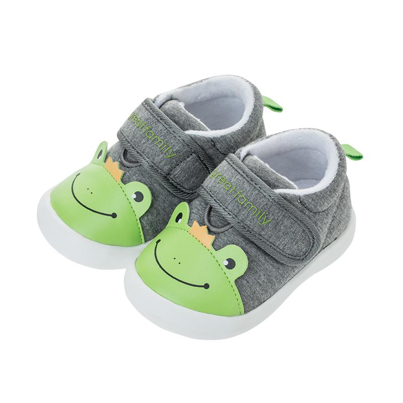 歌瑞贝儿(新)男婴青蛙宝宝鞋GBR4-005SH灰12CM双
