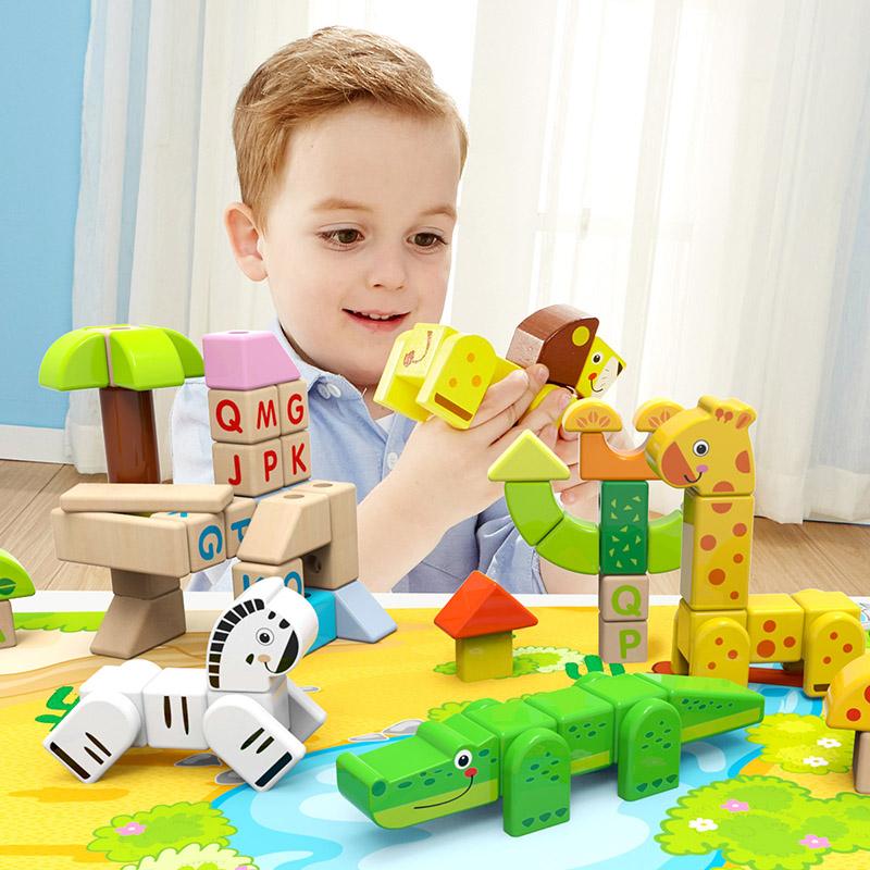 特宝儿(Topbright)森林积木 80粒 儿童益智积木拼搭玩具(1岁及以上适用)120155